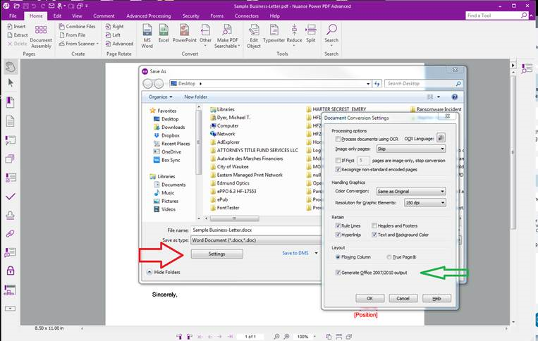 """Power PDF 2 1 - How to convert Word to PDF in """"Compatibility"""